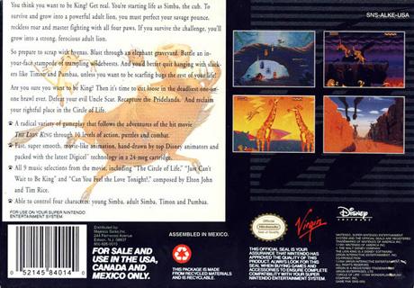 Retro Game Guide Snes Lion King