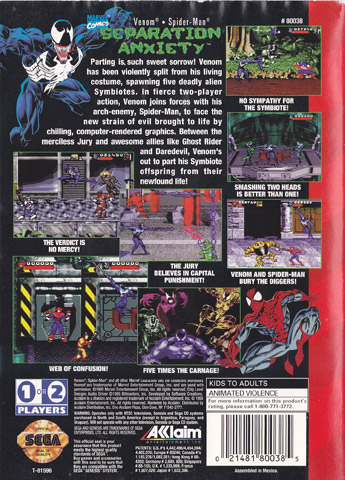 Retro Game Guide Genesis Spider Man Amp Venom