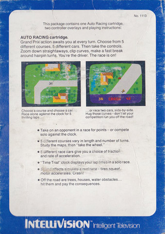 Auto Racing Guide on Auto Racing   Intel   Retro Game Guide