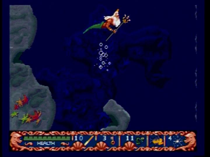 Retro game guide genesis ariel disney s the little mermaid